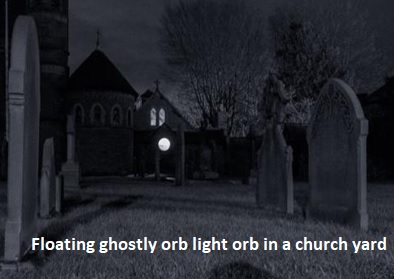 Light Orb in a Church Yard