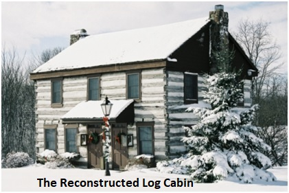 Reconstructed Log Cabin Labelled